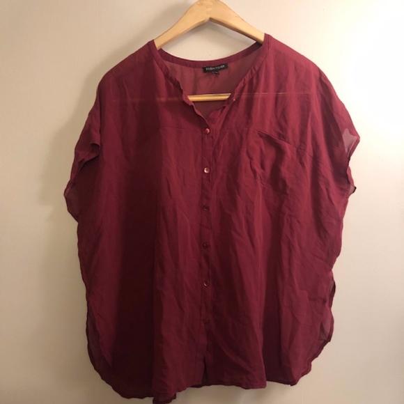 Eileen Fisher Tops - Eileen Fisher 100% Silk Blouse- Size XS